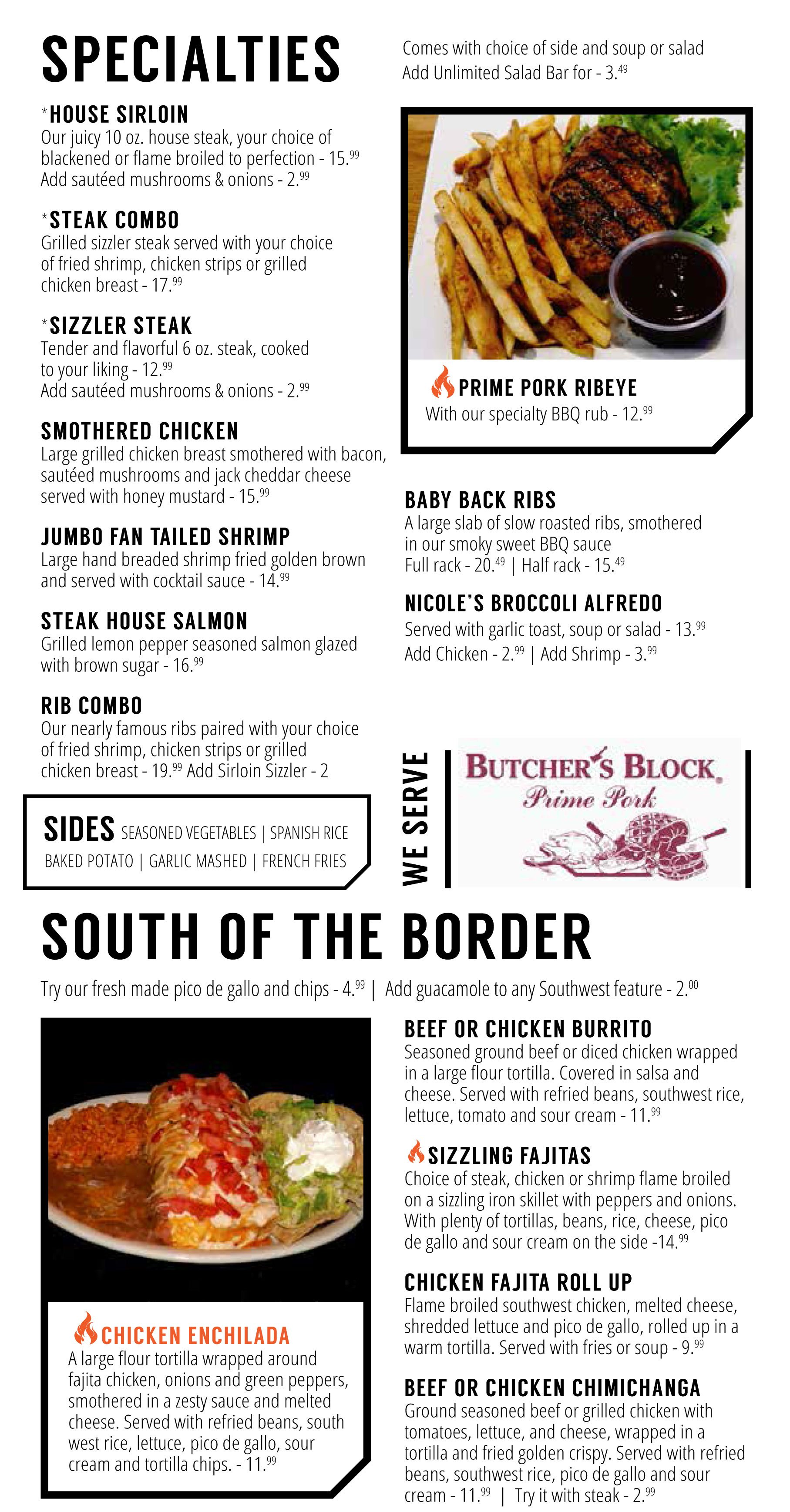 SPECIALTIES & SOUTH OF THE BORDER